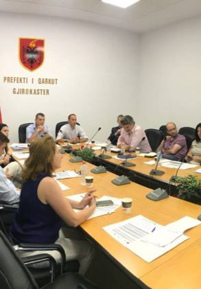 Meeting of the project partners on 18th of July in Gjirokastra